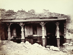 Front of temple at Sendurjana, Buldana District, Berar
